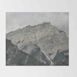 Downtown Banff Throw Blanket