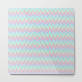 Light Pink Lilac Chevron Metal Print