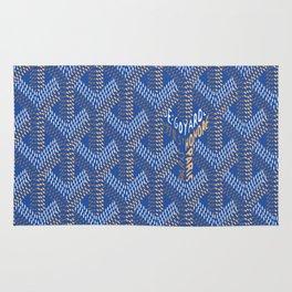 Goyard Blue Rug