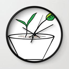 Minimalist Pot Plant Wall Clock