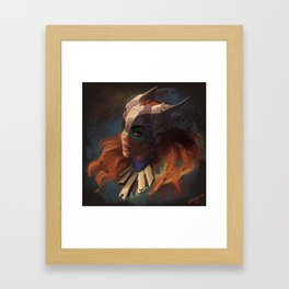 Huntress of the Frozen Wilds Framed Art Print