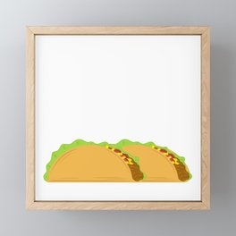 """Taco Tuesday"" Perfect Gift For Any Tacos Lovers T-shirt Design Vegetables Meat Nachos Wheat Framed Mini Art Print"