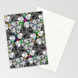 Faces Stationery Cards