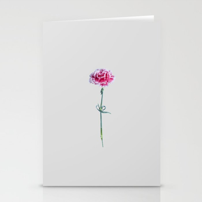 Single Pink Flower Stationery Cards By Berrypeach Society6