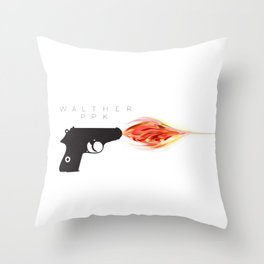 Walther PPK Throw Pillow