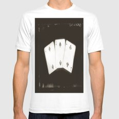 Cards MEDIUM Mens Fitted Tee White