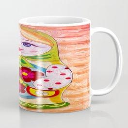 Russian Matryoshka Nesting Doll in Colour Coffee Mug
