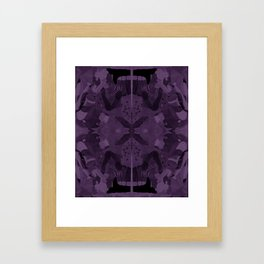 absence of purple Framed Art Print