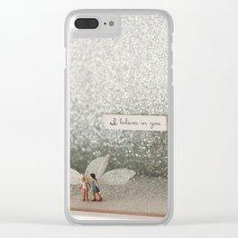 I believe in you Clear iPhone Case
