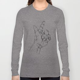 Ink doodle hand #3 Long Sleeve T-shirt