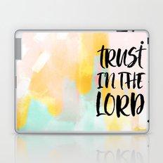 Trust the Lord - Christian Faith typography - Abstract Laptop & iPad Skin