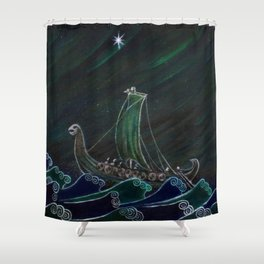 Starlight Voyagers Shower Curtain