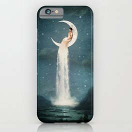 Moon River Lady iPhone Case