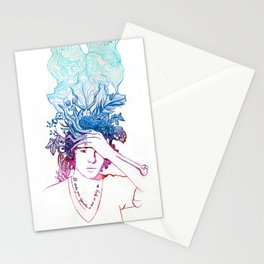 I'll Smoke Your Cigarettes So That I'm Dying Too Illustration Stationery Cards