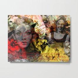 Edie ft. Twiggy Metal Print