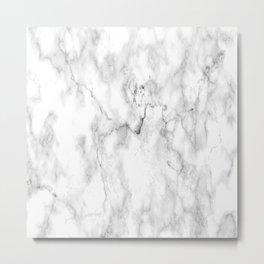 Carrara Marble Metal Print