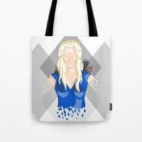daenerys targaryen Tote Bags featuring Daenerys Targaryen by itsamoose