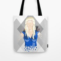 daenerys Tote Bags featuring Daenerys Targaryen by itsamoose