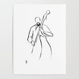 Jazz Contrabass Minimalism Poster