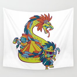 Mexican Gods Wall Tapestry