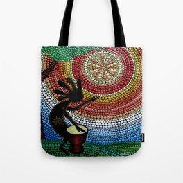 Kokopelli. God of fun and fertility Tote Bag