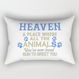 Heaven A Place Rectangular Pillow