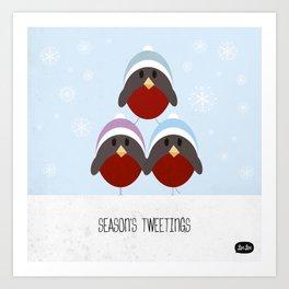 Season's Tweetings Art Print