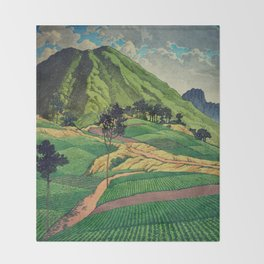 Crossing people's land in Iksey Throw Blanket