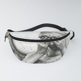 Weeping Angel Watercolor Painting Fanny Pack
