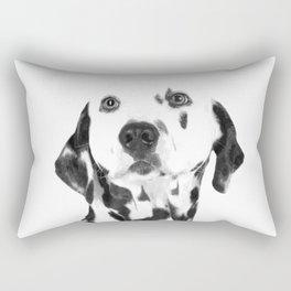 Black and White Dalmatian Rectangular Pillow