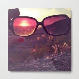 Sunglass Sunset Metal Print
