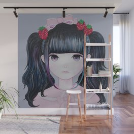 Nakayoshi Strawberry Wall Mural