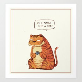 Mr Tiger Art Print