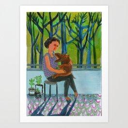 at the Chalet Art Print