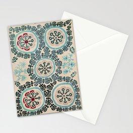 Ferghana Suzani  Northeast Uzbekistan Embroidery Print Stationery Cards