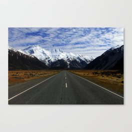 Road to Mount Cook Canvas Print