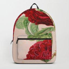 Rose Victor Trouillard Vintage Botanical Floral Flower Plant Scientific Backpack