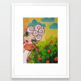 Garden Party Gal #1 Framed Art Print