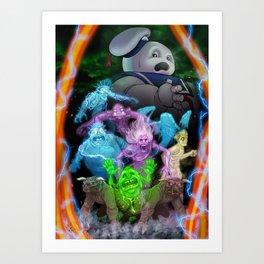 Bustin' Ghosts Art Print