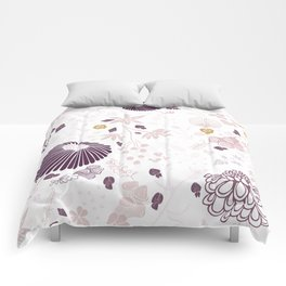 Field of Flowers on White Comforters