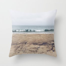 Stormy Sycamore Beach Throw Pillow