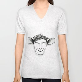 Charlie Sheep Unisex V-Neck