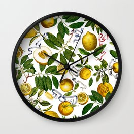 LEMON TREE White Wall Clock