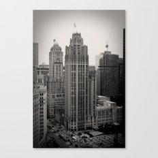 Chicago Tribune Tower Building Black and White Photo Canvas Print