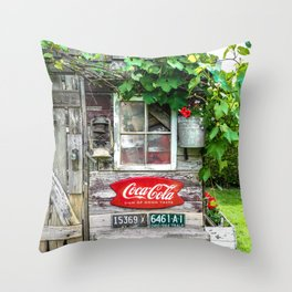 Summer Shed Throw Pillow