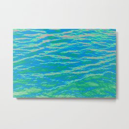 Psychedelic Ocean Water - Blues and Greens Metal Print