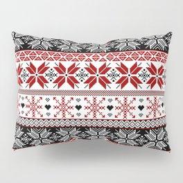 Winter Fair Isle Pattern Pillow Sham