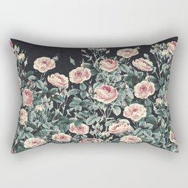 Vintage Garden (Night Roses) Rectangular Pillow
