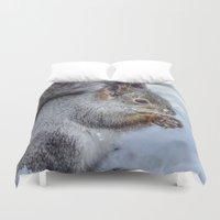 squirrel Duvet Covers featuring Squirrel by Svetlana Korneliuk