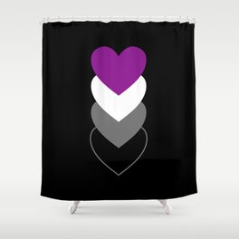 Asexuality in Shapes Shower Curtain